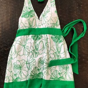Tops - Green and white halter top